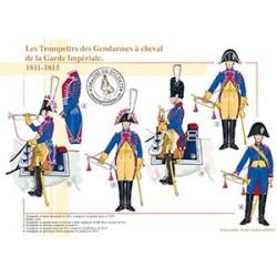 Les Trompettes des Gendarmes à cheval de la Garde Impériale, 1811-1815
