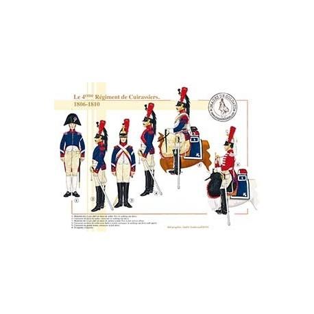 Le 4ème Régiment de Cuirassiers, 1806-1810