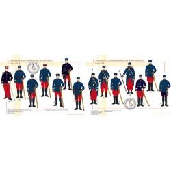 L'Infanterie à la Mobilisation, officiers et sous-officiers, 2 Août 1914
