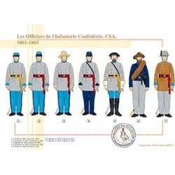 Les Officiers de l'Infanterie Confédérée, CSA, 1861-1865