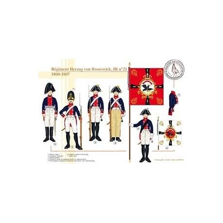Régiment Herzog von Brunswick, IR n°21, 1800-1807