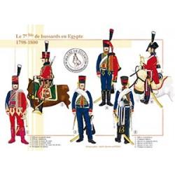 Le 7ème bis de hussards en Egypte, 1798-1800