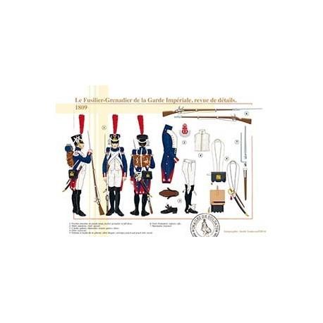 Le Fusilier-Grenadier de la Garde Impériale, revue de détails, 1809