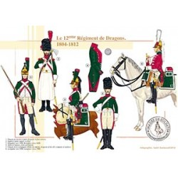 Le 12ème Régiment de Dragons, 1804-1812