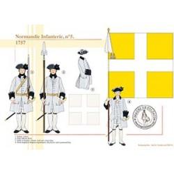 Normandie Infanterie n°5, 1757