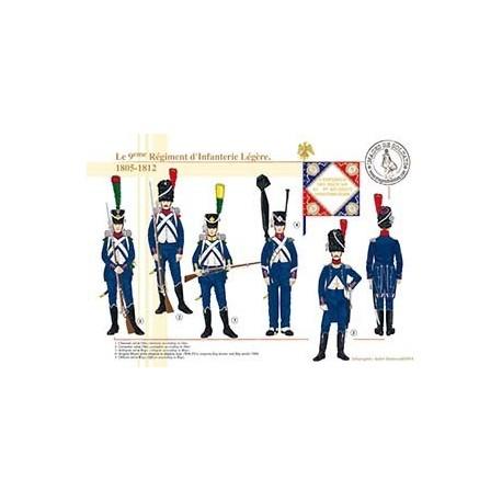 Le 9ème Régiment d'Infanterie Légère, 1805-1812