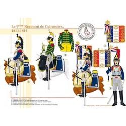 Le 9ème Régiment de Cuirassiers, 1813-1815
