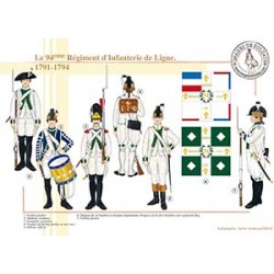 Le 94ème Régiment d'Infanterie de Ligne, 1791-1794