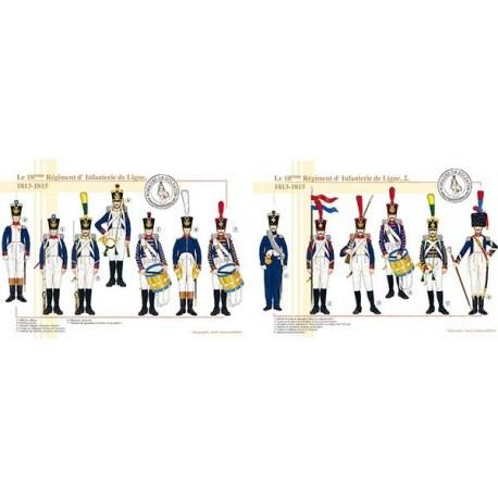 Le 18ème Régiment d'Infanterie de Ligne, 1813-1815