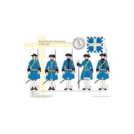 Royal Bavière Infanterie, 1710-1757