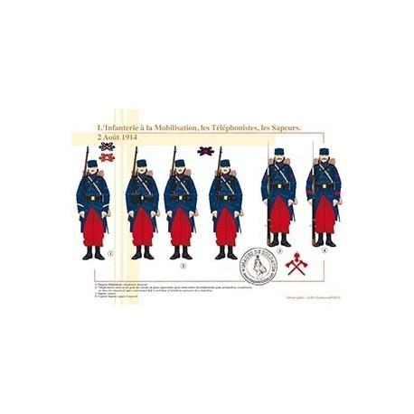 L'Infanterie à la Mobilisation, les Téléphonistes, les Sapeurs, 2 Août 1914