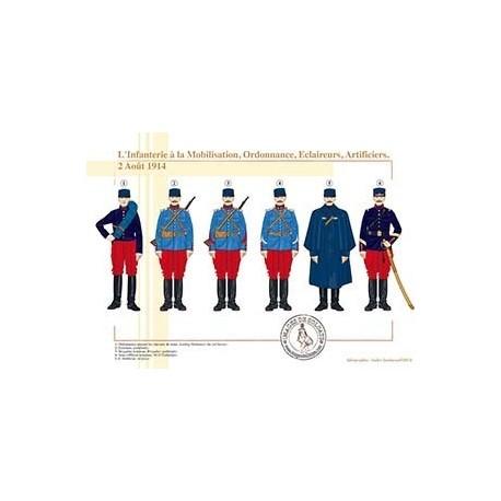 L'Infanterie à la Mobilisation, Ordonnance, Eclaireurs, Artificiers, 2 Août 1914