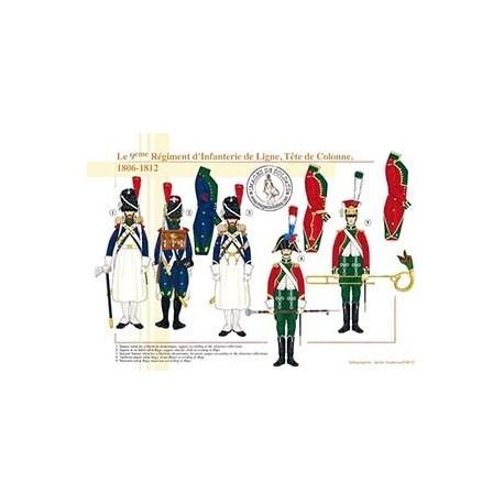 Le 9ème Régiment d'Infanterie de Ligne, Tête de Colonne, 1806-1812