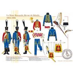 Le 9ème Hussards, Revue de Détails, 1804-1806