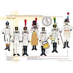 Le 16ème Régiment d'Infanterie de Ligne, 1806-1809