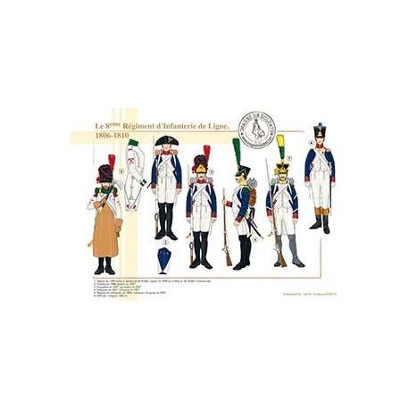 Le 8ème Régiment d'Infanterie de Ligne, 1806-1810