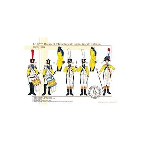 Le 67ème Régiment d'Infanterie de Ligne, Tête de Colonne, 1808-1810