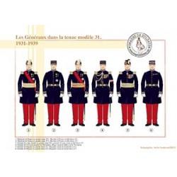 Les Généraux dans la tenue modèle 31, 1931-1939