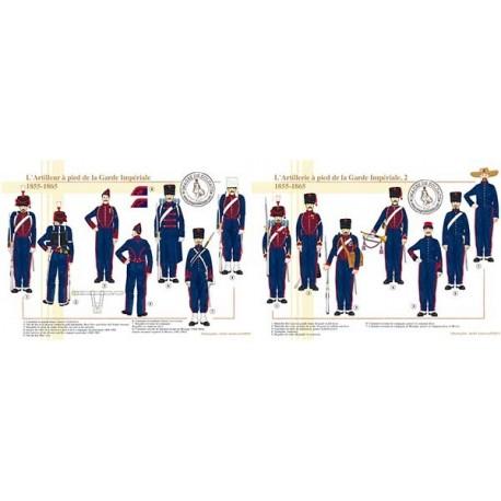 L'Artillerie à pied de la Garde Impériale, 1855-1865