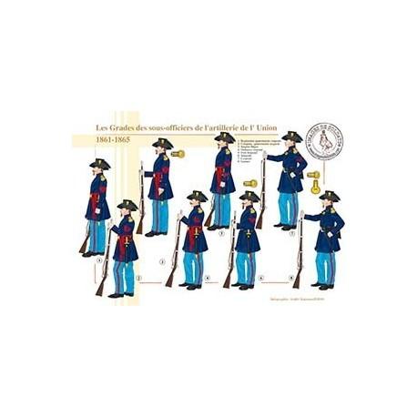 Les Grades des sous-officiers de l'artillerie de l'Uinon, 1861-1865