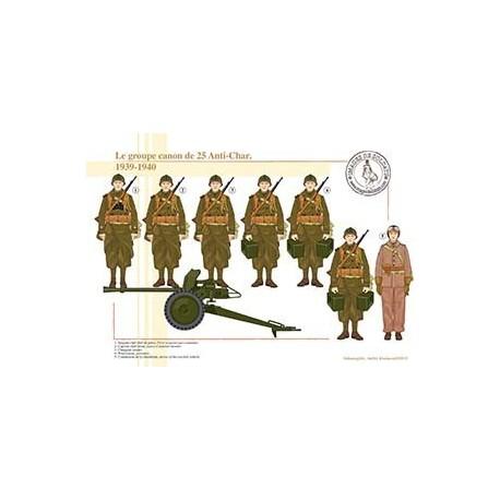 Le groupe canon de 25 Anti-Char, 1939-1940