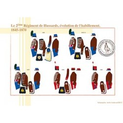 Le 2ème Régiment de Hussards, évolution de l'habillement, 1845-1870