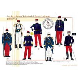 Les Bataillons d'Infanterie Légère d'Afrique, 1900-1914
