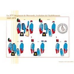 Le 3ème Régiment de Hussards, évolution de l'habillement, 1845-1870