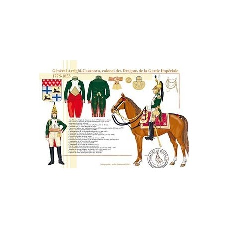 Général Arrighi-Casanova, colonel des Dragons de la Garde, 1778-1853