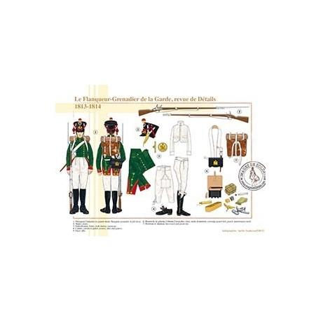Le Flanqueur-Grenadier de la Garde, revue de détails, 1813-1814