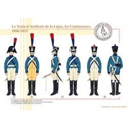 Le Train d'Artillerie de la Ligne, les Conducteurs, 1806-1815