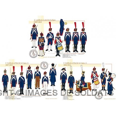 L'artillerie à pied de la ligne, 1804-1812