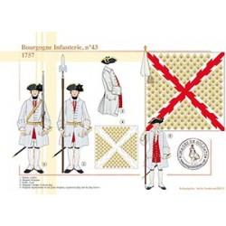 Bourgogne Infanterie, n°43, 1757