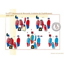 Le 4ème Régiment de Hussards, évolution de l'habillement, 1845-1870