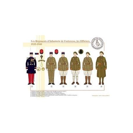 Les Régiments d'Infanterie de Forteresse, les Officiers, 1935-1940