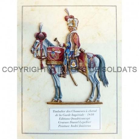 Timbalier des chasseurs à cheval de la Garde impériale, 1810