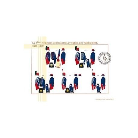 Le 5ème Régiment de Hussards, évolution de l'habillement, 1845-1870