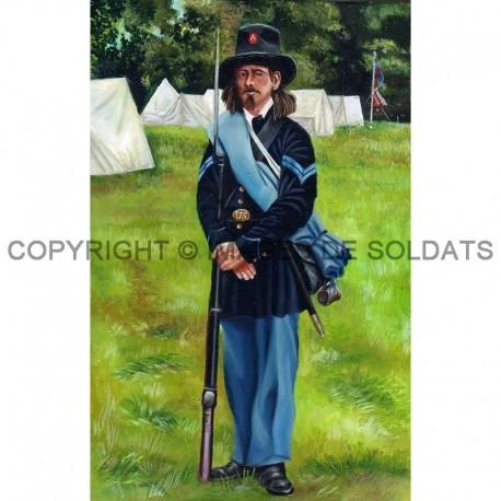 Fantassin de la Iron Brigade, armée de l'Union, durant la guerre de Sécession