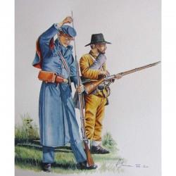 Infanterie sudiste en 1864