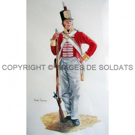 Soldat du Buff regiment, 1815