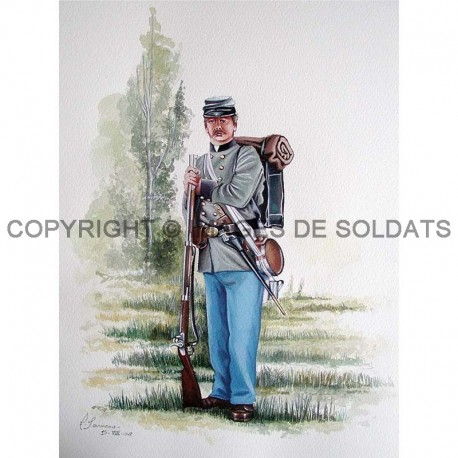Soldat sudiste en 1861