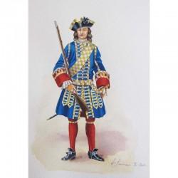 Garde de la Porte de l'Hôtel du Roi, 1730