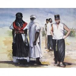 Un capitaine de la coloniale et des auxiliaires sahariens, années 60