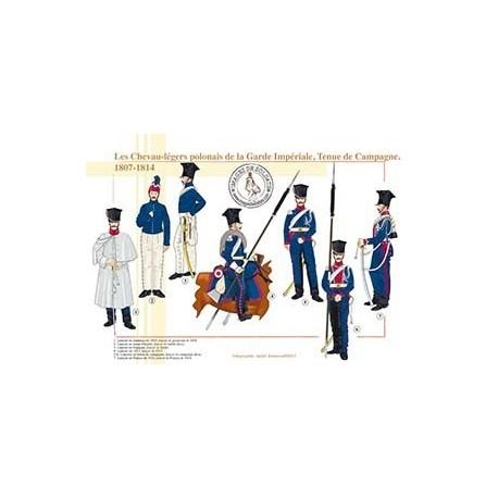 Les Chevau-légers polonais de la Garde Impériale, Tenue de Campagne, 1807-1814