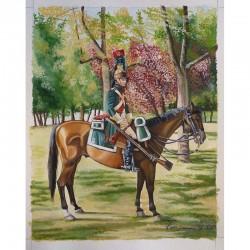 Cavalier du 2ème Dragons vers 1806