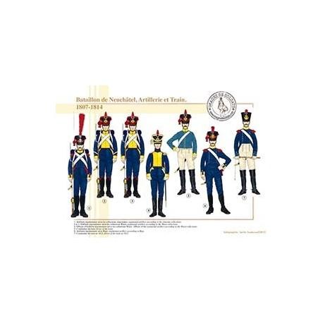 Bataillon de Neuchâtel, Artillerie et Train, 1807-1814
