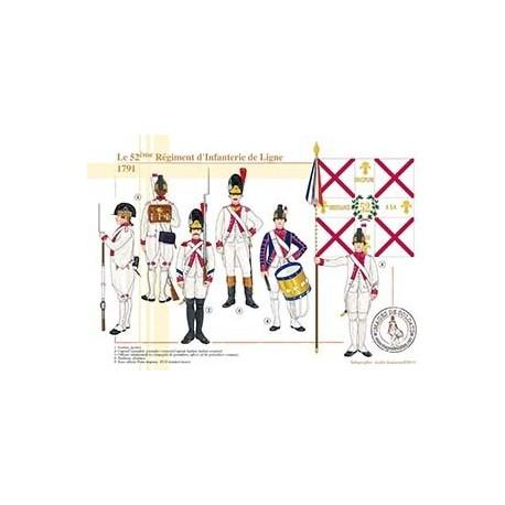 Le 52ème Régiment d'Infanterie de Ligne, 1791