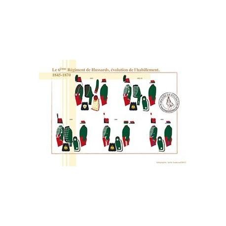 Le 6ème Régiment de Hussards, évolution de l'habillement, 1845-1870