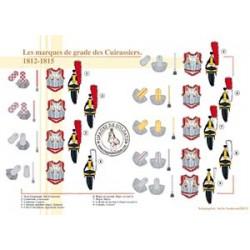 Les marques de grade des Cuirassiers, 1812-1815