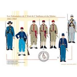 Les Volontaires de l'Etat de l'Indiana et du Maine, 1861-1865
